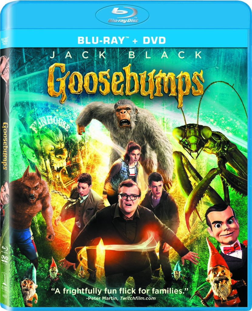 goosebumps blu ray dvd