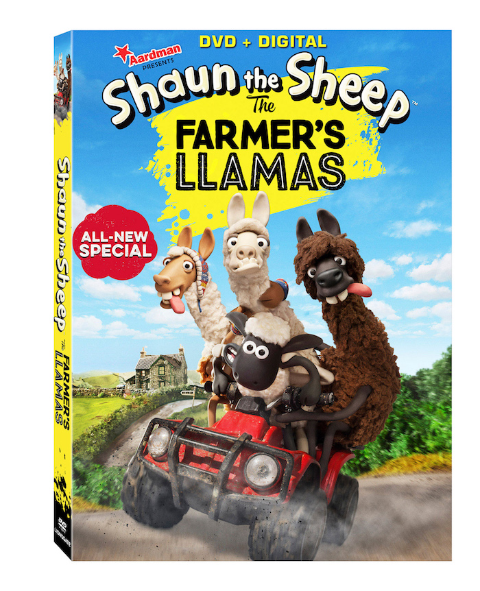 lionsgate, shaun the sheep, farmer's llamas dvd