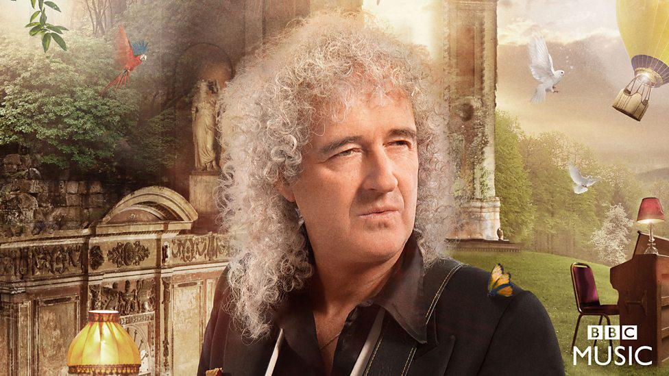 Queen Guitarist Brian May shows off his guitar skills in the video. (Photo Credit: BBC MUSIC)