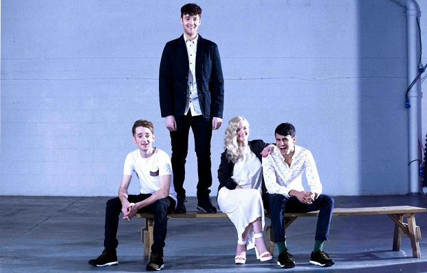 Band members of Clean Bandit during a Rolling Stone photo shoot. (Photo credit: rollingstone.com)