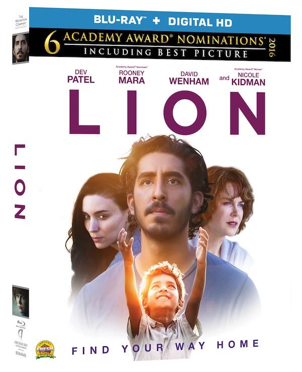 LION movie, blu ray dvd